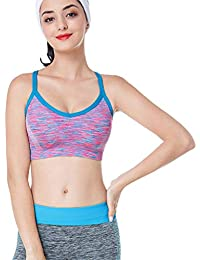 Reooly Yoga para Mujer Fitness Ropa Interior Sujetador Manga Top Deportivo para Mujer Ropa Deportiva Atractiva Chaleco