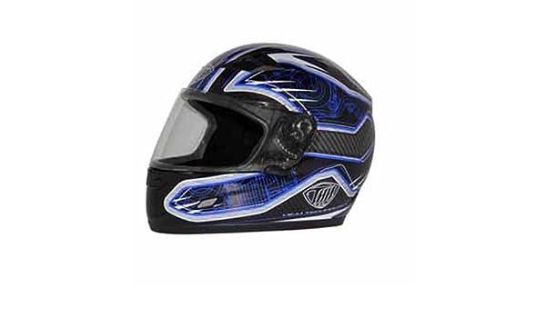 THH Helmets TS-39 Helmet Blue//Black//White, Large