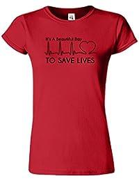 Its A Beautiful Day pour sauver le T-shirt de dames d'an