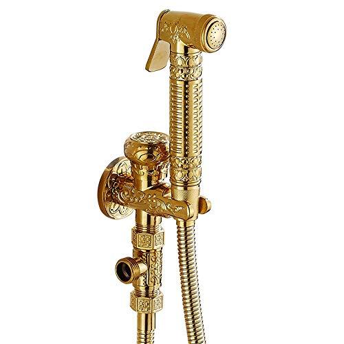Europäische Stil Alle Kupfer Winkelventil Bidet Irrigator WC Goldene Spritzpistole Mopp Pool Waschmaschine Antike Wasserhahn Gesetzt