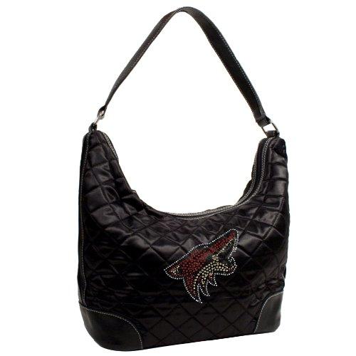 NHL Phoenix Coyotes Sport Noir gesteppt Hobo-Tasche, Schwarz (Gesteppte Hobo-handtaschen-taschen)
