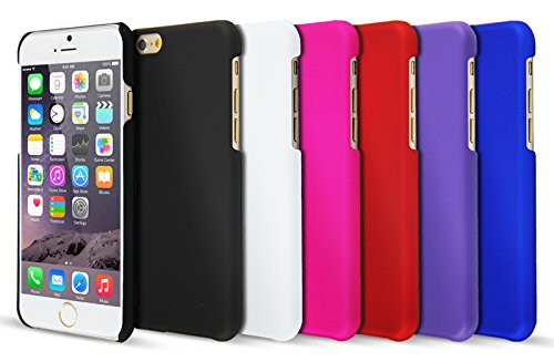 Case Buddy - Cover ultrasottile e pellicola protettiva per Apple iPhone 6 (4,7) e iPhone 6 Plus (5,5), rosso, per iPhone 6 Plus viola