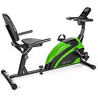 Klarfit Relaxbike 6.0 SE Bicicleta reclinada - Bicicleta estática , Volante de inercia de 12 kg , Resistencia magnética de 8 Niveles , Soporte para Tablet , Silencioso , hasta 100 kg , Verde