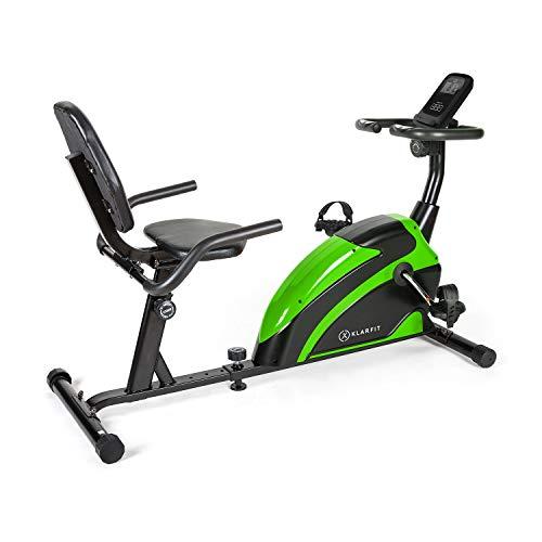 Klarfit Relaxbike 6.0 SE Liege-Ergometer - Cardiobike, Heimtrainer, Schwungmasse: 12 kg, 8-Stufiger Magnetwiderstand, Tablethalterung, PulseControl, SilentBelt Drive, max. 100 kg, schwarz