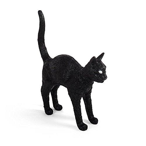 Seletti Jobby The Cat Lamp Black lampe de table en forme de chat noire