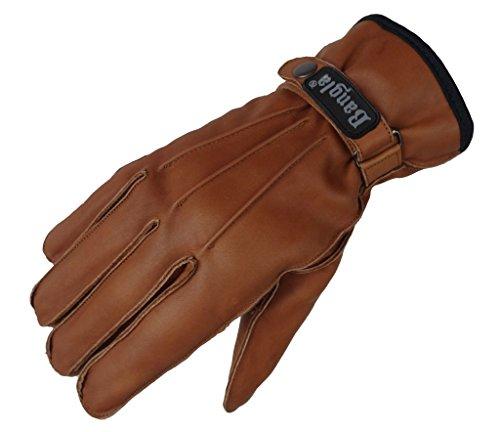 Nappaleder Damen Handschuhe Lederhandschuhe mit Druckknopf gefüttert  S M L Bekleidung Handschuhe
