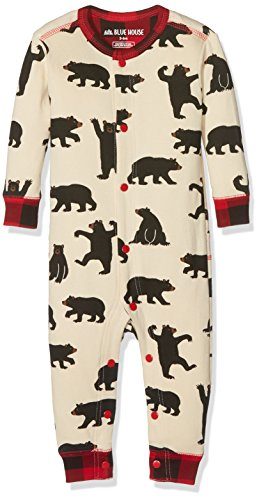 Hatley Union Suits Pyjama, Blanc (Black Bears 101), 6-12 Mois Mixte bébé