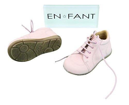 EN-FANT fille bottines à lacets en cuir, bronze, taille 24, 814126U-51 rose pâle