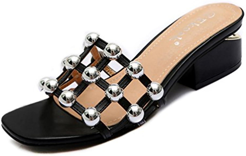 Femmes  s Mode Chaussures D'éTé De Mode s De Femme De Hauts Talons Pantoufles De PlageB07FMVS8ZWParent 058e6b