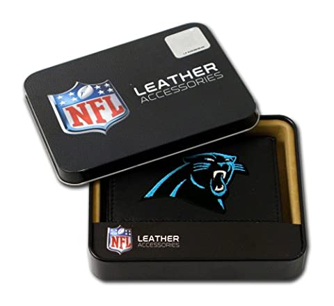 Carolina Panthers Embroidered Leather Tri-Fold Wallet