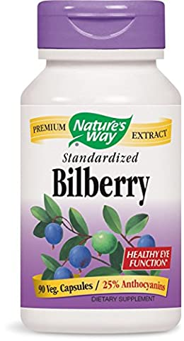 Nature's Way Bilberry Standardized 90 Capsules