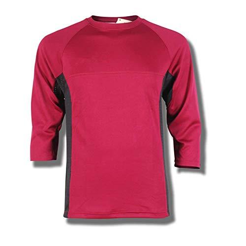 Przewalski Herren Downhill Jersey, MTB Männer T-Shirt, Mountainbike/Motocross Atmungsaktives Und Schnell-Trocknend Kurzarm-Trikot, Enduro/Offroad/Gelände/Quad Cross Kleidung, Rot, L -