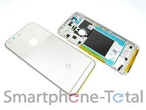 NG-Mobile Google Pixel Backcover Back Gehäuse Cover Akkudeckel Glas Abdeckung Kamera Linse, silber weiß