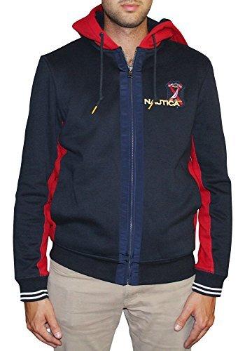 Banded Collar Jacket (Nautica Men's Signature Full-Zip Sweatshirt)