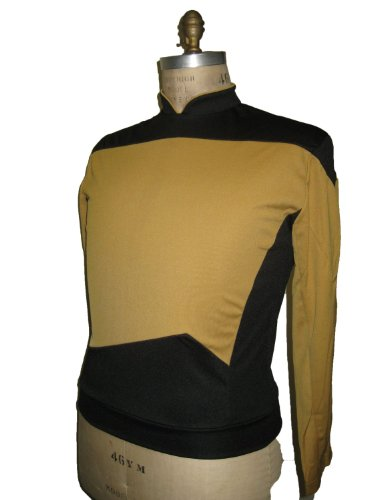 Generation - Uniform Shirt - Gold - XL (Star Trek Next Generation Kostüm)