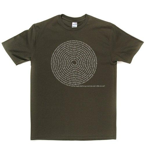 Sixties Spiral Rock Music Tee T-shirt Militärgrün