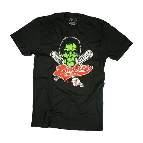 Goodie Two Sleeves Men-Shirt ZOMBIE BASEBALL black Black
