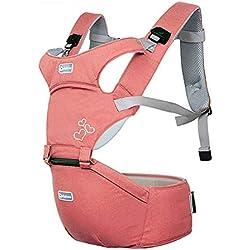 Porta Bebé Mochilas PortabebéS MultiposicióN de Malla Suave y Confortable Taburete de Cintura 5921,Pink