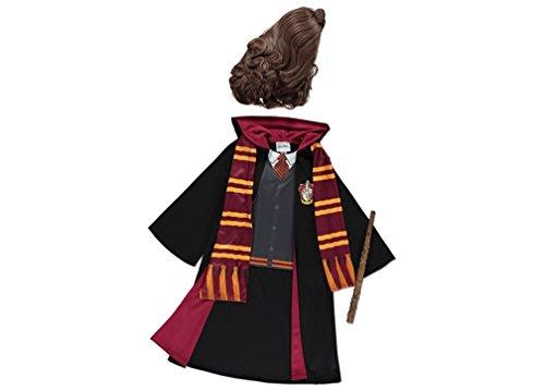 Costume con licenza ufficiale Harry Potter Hogwarts Hermione Granger vestaglia con parrucca, Hermione bacchetta e sciarpa. Libro settimana costume per bambine di età 9–10anni. Made in Warner Bros licenza per la collezione George