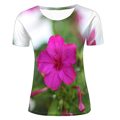 7aa1f006c6 Womens Fashion 3D Print T-Shirts Beautiful Cherry Blossom Sakura Pink  Graphics Summer Casual Short