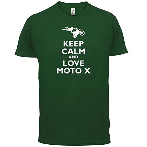 Keep Calm and Love Moto X - Herren T-Shirt - 13 Farben Flaschengrün