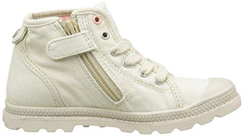 Palladium Unisex-Kinder Pallabrouse Mid Z Lp Sneaker Weiß (Ivory/Apricot Blush/Cubic Print)