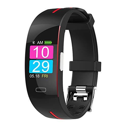 GLDMT Intelligentes Armband, Fitness-Tracker, Fitness Armband Mit Pulsmesser, Aktivitäts-Tracker Wasserdichte Farbanzeige Smart Armband, Kinder-, Damen- Und Herren-Multifunktionsuhren,A