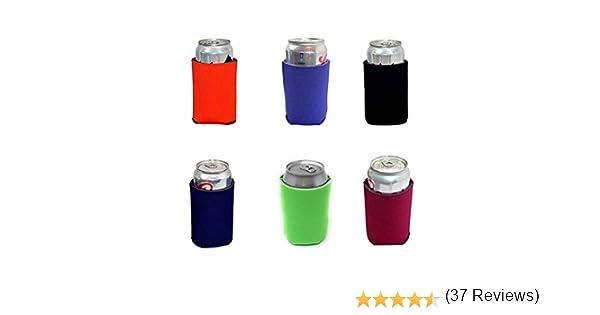 Perfetto per Feste di Matrimonio con Barbecue Bulk Economy Isolatore Pieghevole Soft Drink TXVSO Home 6pcs Multi-Colour Beer Blank Blank Can Coolers Sleeves 330ml