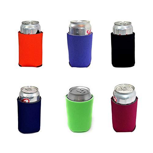 TXVSO Home 6pcs Multi-Color-Neopren-Bierrohling können Kühler Sleeves 330ml, Softdrink, Economy-Volumen, zusammenklappbarer Isolator, ideal für BBQ-Hochzeiten -