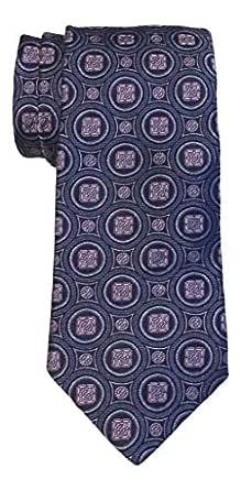 Ike Behar Navy Fancy Medallion Tie