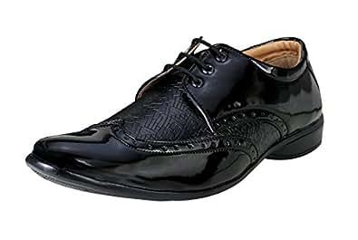 FASHIMO Men's Black Shoes (1803-black-41)