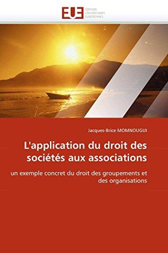 L''application du droit des sociétés aux associations