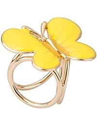 Clip Broche de Bufanda Forma Mariposa Joyería Regalo para Mujer Fiesta Boda -Amarillo
