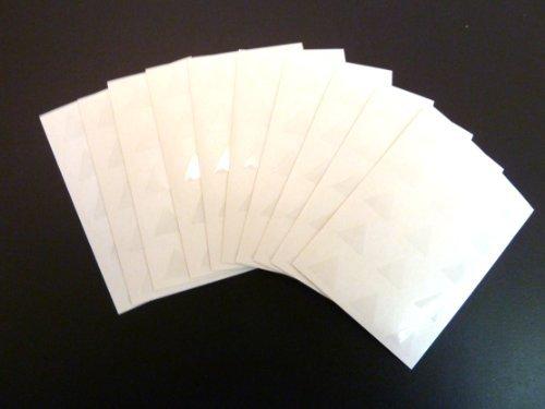150 ETIQUETAS, 10mm triángulo, Brillo Transparente Claro, código de color PEGATINAS, autoadhesivo Adhesivo de color Etiquetas