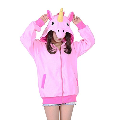 KiKa Monkey Cosplay Einhorn Tier Hoodie Jacke Pullover Party Kostüm (XL, (Kostüme Hoodies)