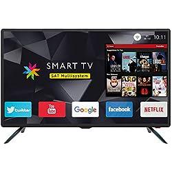 """Trevi Ltv 3208 Smart Televisore Smart TV 32"""" HD con Decoder Digitale Dvbt-T2 e Satellitare Dvbs-S2, Sistema Operativo Android, Risoluzione 1366 x 768 Dpi HD Ready"""
