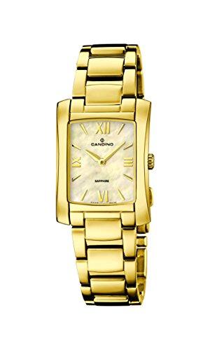 Candino reloj de cuarzo para mujer con Madre de Pearl Esfera Analógica Pantalla y oro pulsera de acero inoxidable c4557/2