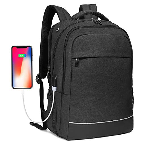 Travel Business Laptop Backpack up to 17.3 inch, Water Resistant College School Computer Bag for Women & Men And Students with USB Charging Port