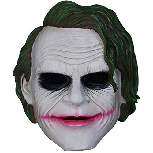 aske Halloween Dark Night Knight Maske Horror Cos Maske Resin Requisiten Kinder,A,24.5 * 19CM ()