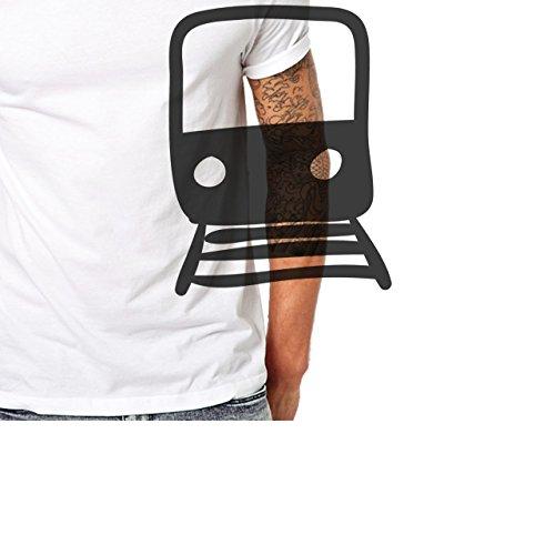 Cosmopolitan Lifestyle Travel Time With Train Herren T-Shirt Weiß
