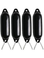 4X Majoni Noir Bateau Ailes (gonflé)–Taille 2+ Gratuit Corde