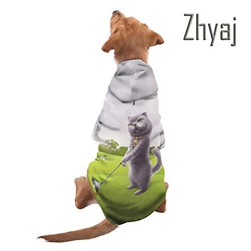 Straße Katze Kostüm - Zhyaj Halloween-Kostüme Straße Haustier Sweatshirt 3D Gedruckt Coole Lustige Tiere Muster Pet Kostüm für Hunde Katze Warm Mode Hoodies,A,4XL
