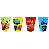 Kids Set of 4 Plastic Cups Disney Cars