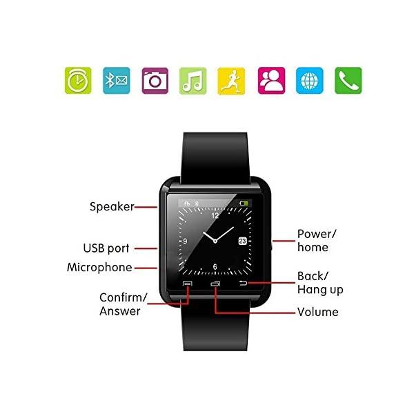 Letopro Smartwatch Bluetooth Reloj Inteligente Android iOS, Smart Watch Teléfono Inteligente De Pulsera con Pódometro/Contador de Calorias, Fitness Tracker para ios android phone(Negro) 9