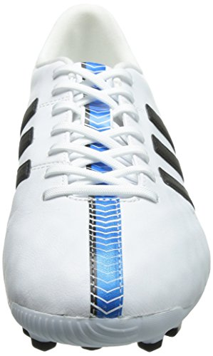 adidas 11 Nova Ag, Chaussures de football homme Blanc - Weiß (FTWR White/Core Black/Solar Blue2 S14)