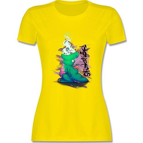 Statement Shirts - Stinkstiefel - tailliertes Premium T-Shirt mit  Rundhalsausschnitt für Damen Lemon Gelb