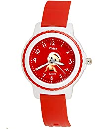 Vizion Analog Red Dial (Baby Boss-with Red Hat) Cartoon Character Watch for Kids-V-8829-6-1