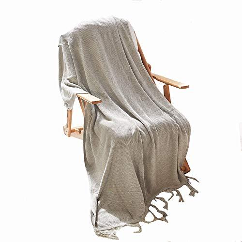 Ancoree coperta di cotone lavorato a maglia con frange per il tempo libero super morbido peluche throw blanket per poltrona divano letto elegante coperta addormentata,115x150cm