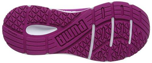 Puma Engine Jr, Sneakers Basses Mixte Enfant Blanc (Puma White-ultra Magenta 03)