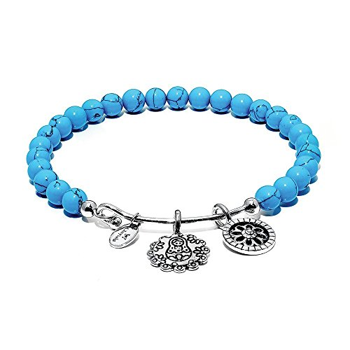 Chrysalis CRBH0008TU Damen Armreif Guardian Collection Matroschka Messing silber blau